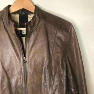 Rouge by Reilly Olmes Sz L Brown Leather Jacket